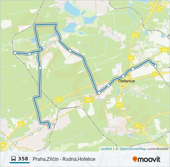 358 Cesta Jizdni Rady Zastavky A Mapy Praha Zlicin