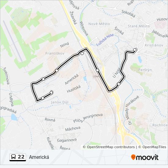 Linea 22 Horarios Mapas Y Paradas Oc Nisa