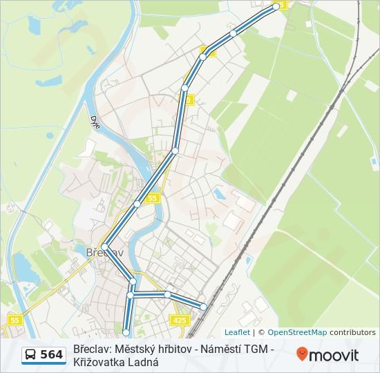 Linea 564 Horarios Mapas Y Paradas Breclav Autobusove Nadrazi