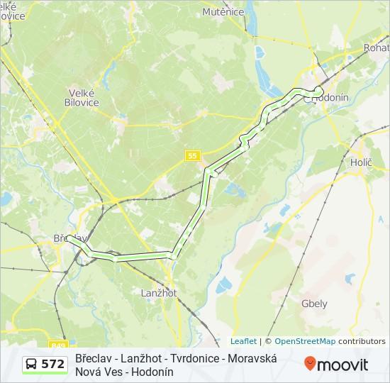 Linea 572 Horarios Mapas Y Paradas Breclav Namesti Tgm Kostel