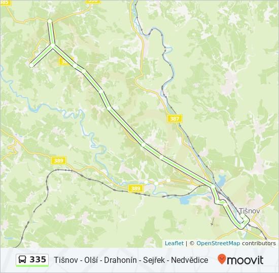 Rota Da Linha 335 Horarios Estacoes E Mapas Sejrek Bor
