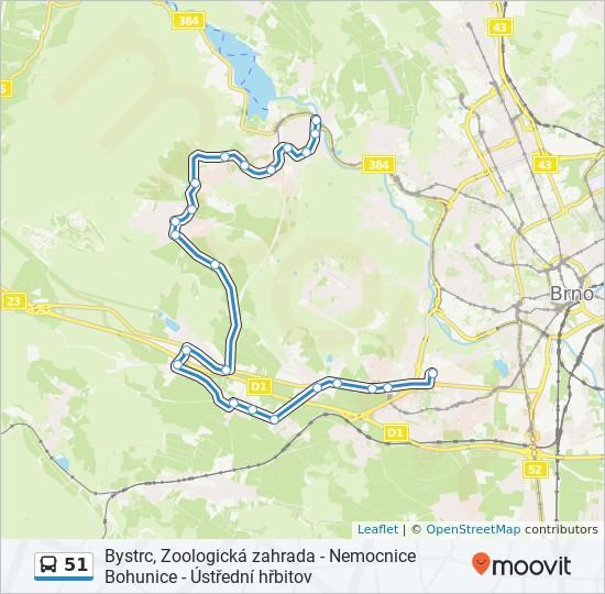 Linea 51 Horarios Mapas Y Paradas Nemocnice Bohunice