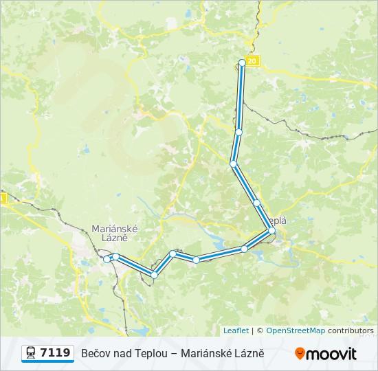 7119 Cesta Jizdni Rady Zastavky A Mapy Marianske Lazne