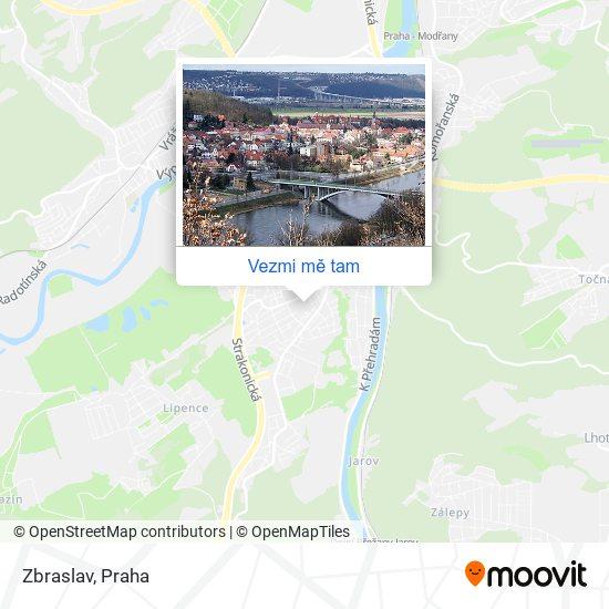 Zbraslav mapa