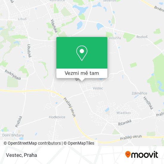 Vestec mapa