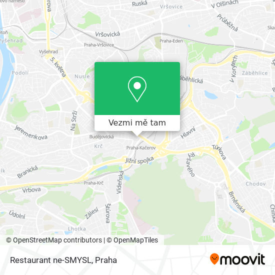 Restaurant ne-SMYSL mapa