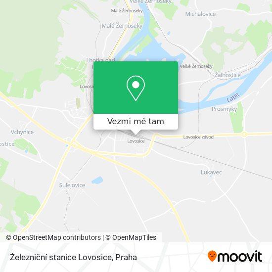 Železniční stanice Lovosice mapa