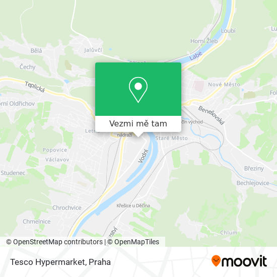 Tesco Hypermarket mapa
