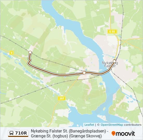 710R bus Linjekort