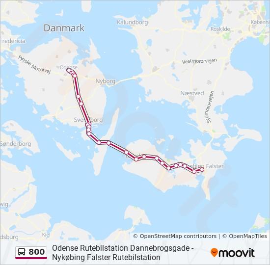 800 bus Linjekort