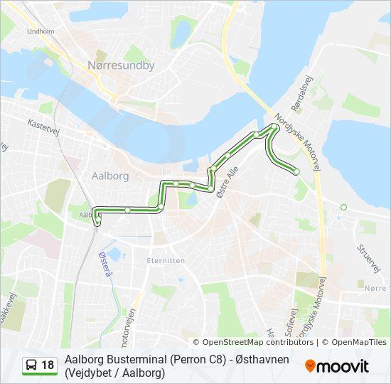 18 Rute Tidsplaner Stopper Og Kart Aalborg Busterminal