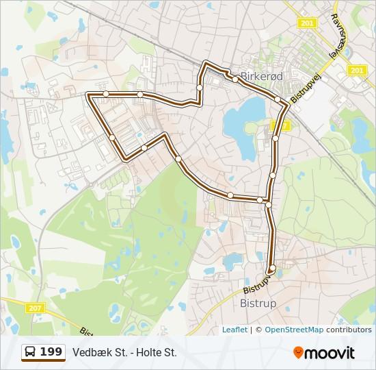 199 bus Linjekort