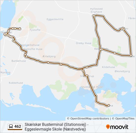 462 bus Linjekort