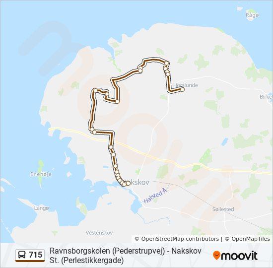 715 bus Linjekort