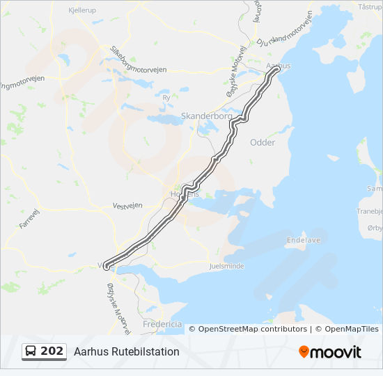 202 Rutt Tidsschema Stopp Kartor Vejle Trafikcenter