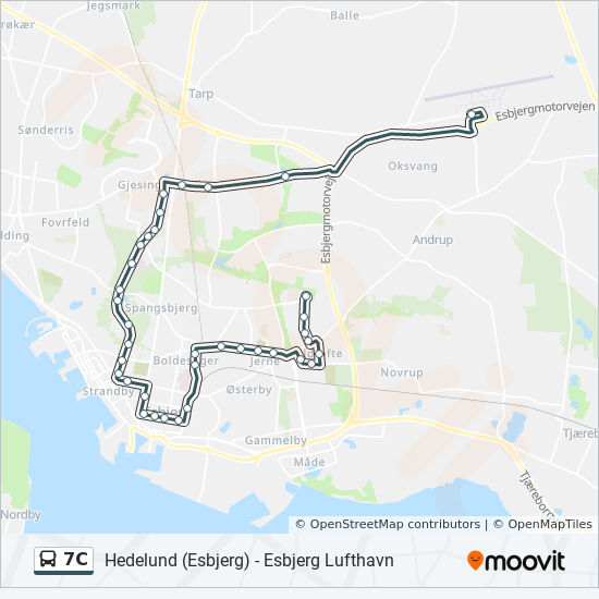 7C Route: Time Schedules, Stops & Maps