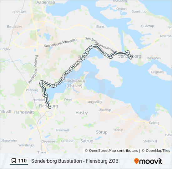 Linie 110 Fahrplane Haltestellen Karten Flensburg Zob