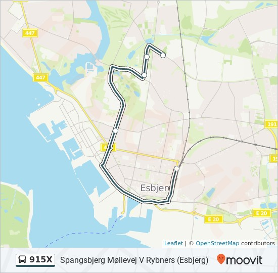 Linie 915X: Fahrpläne, Haltestellen & Karten - Spangsbjerg ...