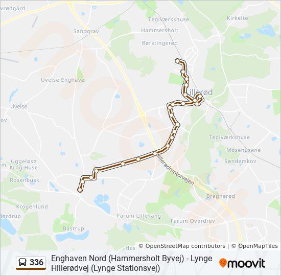 336 bus Linjekort