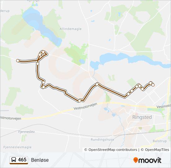 465 bus Linjekort