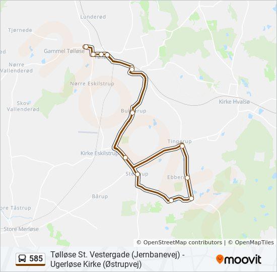 585 bus Line Map