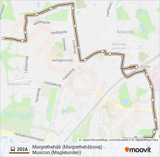 Bus Linie 202A Karte