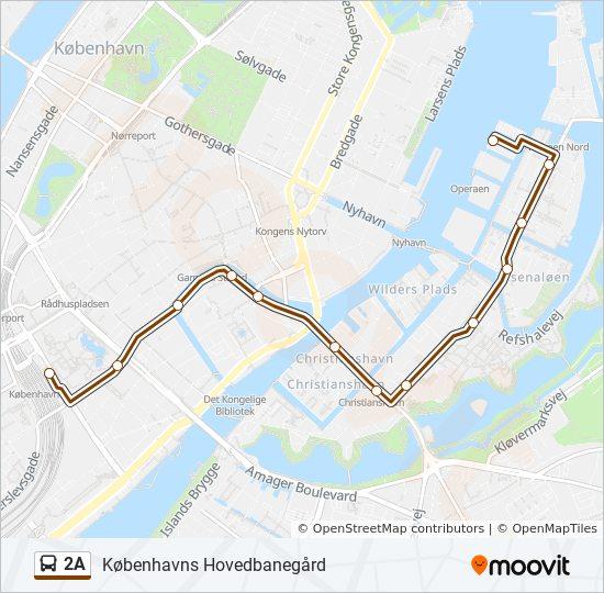 2A bus Line Map