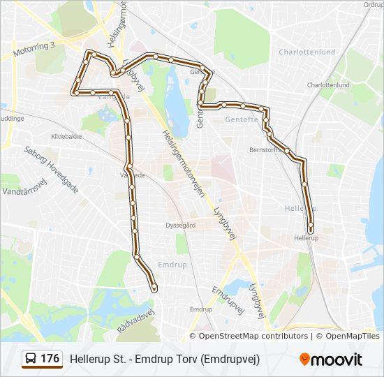 176 bus Linjekort