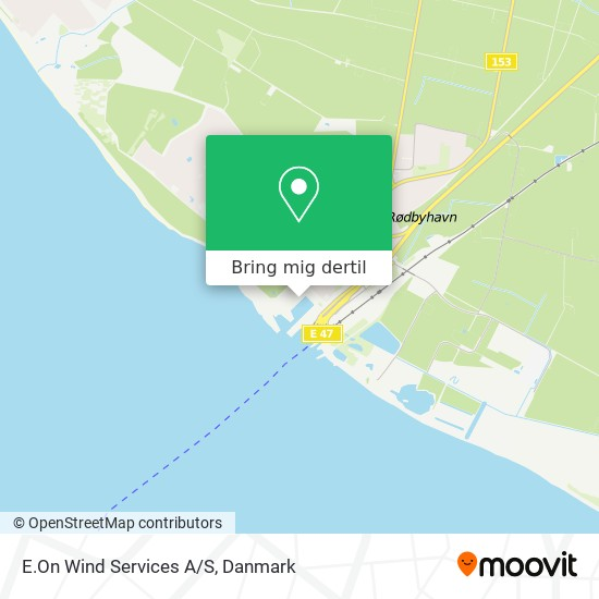 E.On Wind Services A/S kort