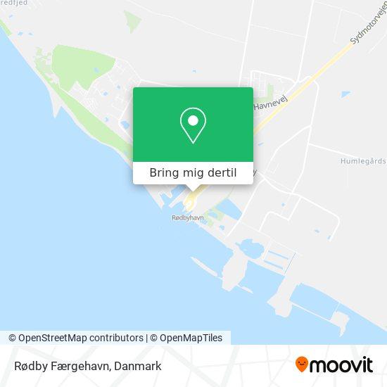 Rødby Færgehavn kort
