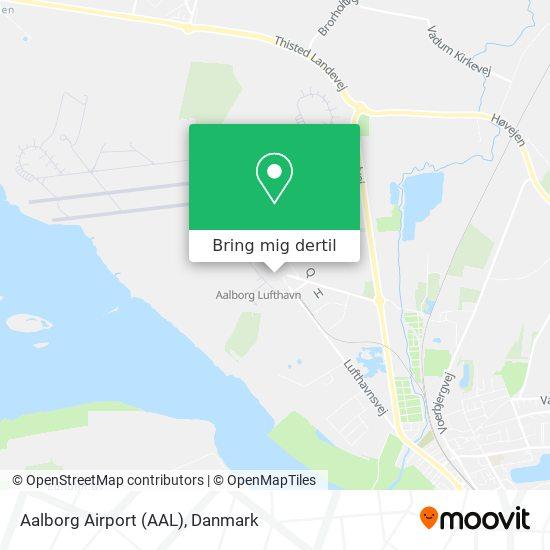 Aalborg Airport (AAL) kort