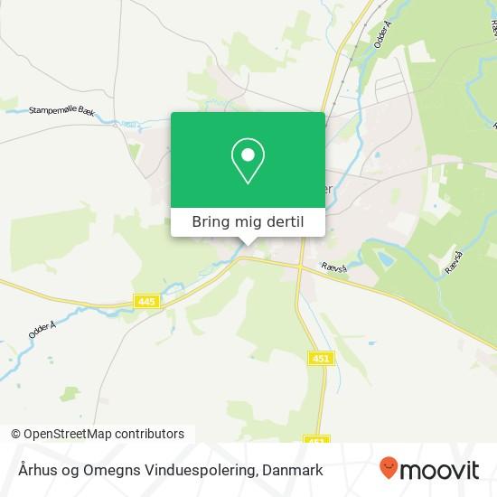 Århus og Omegns Vinduespolering kort