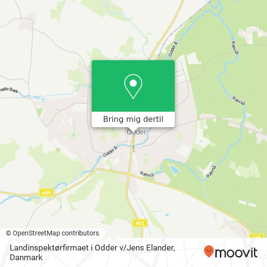 Landinspektørfirmaet i Odder v / Jens Elander kort