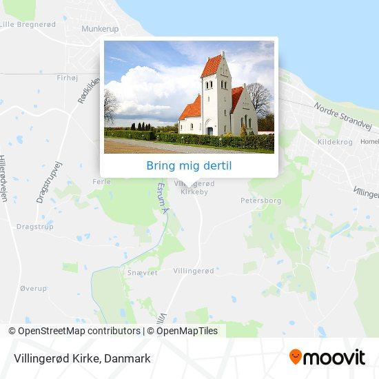 Villingerød Kirke kort