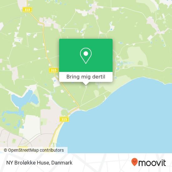 NY Broløkke Huse kort