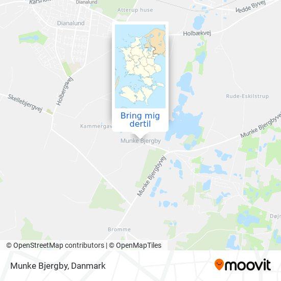 Munke Bjergby kort