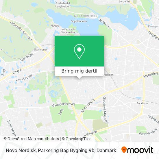 Novo Nordisk, Parkering Bag Bygning 9b kort