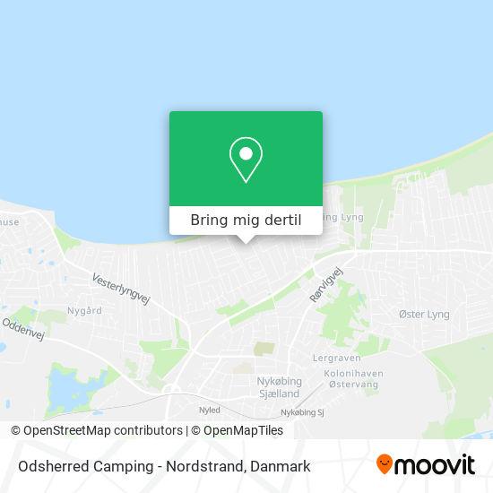 Odsherred Camping - Nordstrand kort