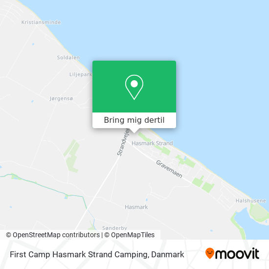Hasmark Strand Camping kort