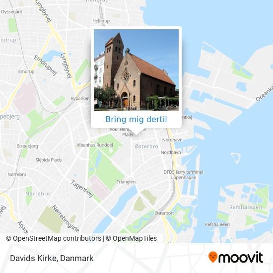 Davids Kirke kort