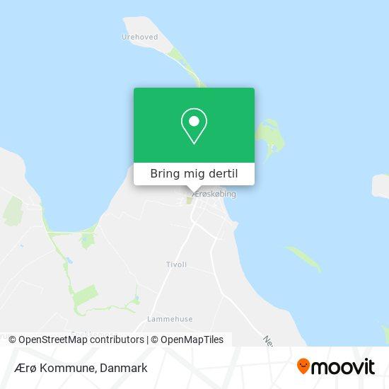 Ærø Kommune kort