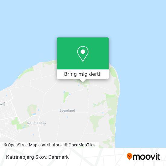 Katrinebjerg Skov kort