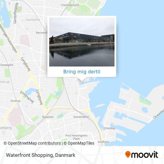 Waterfront Shopping kort