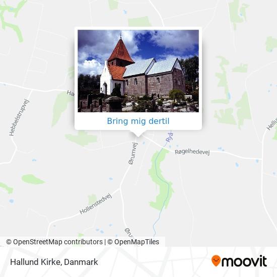 Hallund Kirke kort