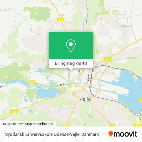 Syddansk Erhvervsskole Odense-Vejle kort
