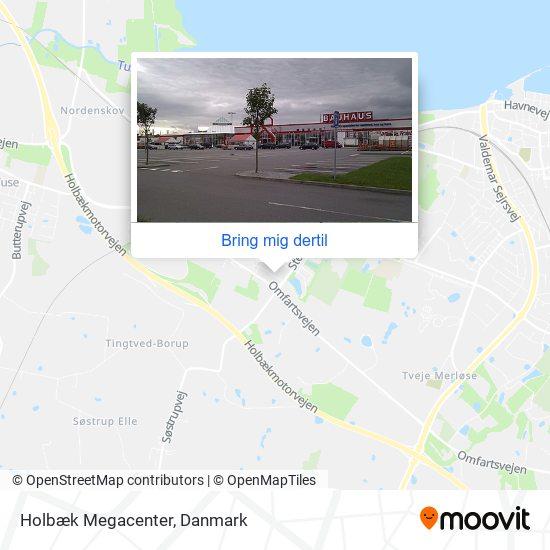 Holbæk Megacenter kort