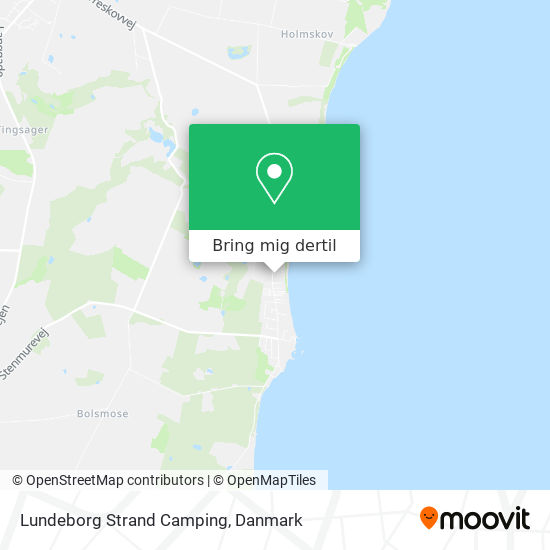 Lundeborg Strand Camping kort