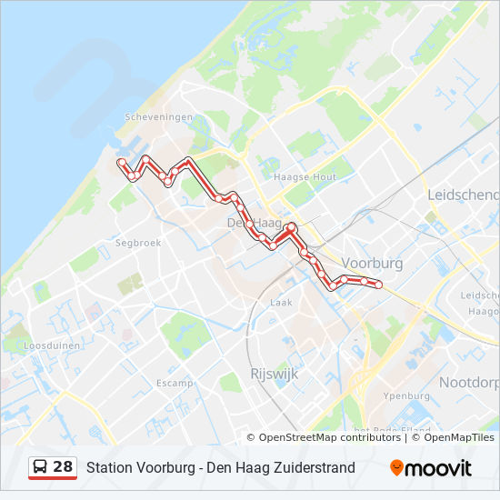 28 Route Time Schedules Stops Maps Station Voorburg