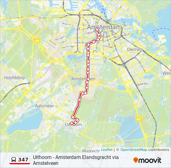347 Route: Time Schedules, Stops & Maps - Elandsgracht Amsterdam on