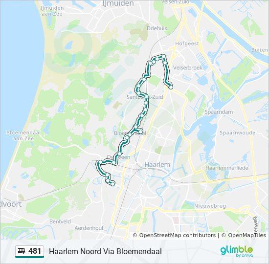 481 Route: Time Schedules, Stops & Maps - Haarlem Noord Via Bloemendaal